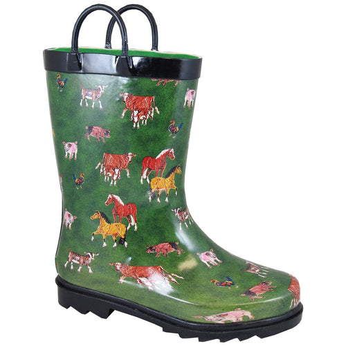 Smoky Mountain Children's Green Rubber Boot