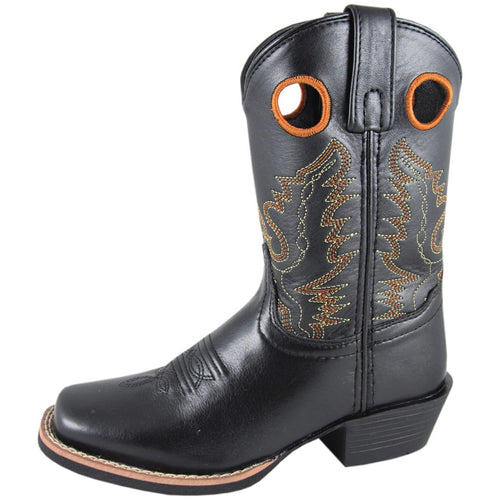 Smoky Mountain Youth Black Square Toe Boot