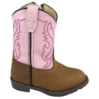 Smoky Mountain Girl's Toddler Toddler Brown Distress/Pink Boot