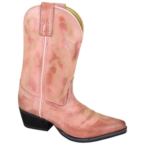 Smoky Mountain Girl's Children's Dusty Rose Snip Toe Western Boot