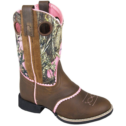 Smoky Mountain Girl's Children's Ruby Belle Brown Distress/Pink Camo Boot