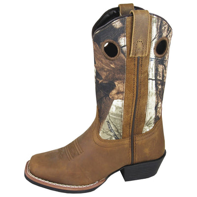 Smoky Mountain Children's Mesa Brown Distress Brown Camo Boot