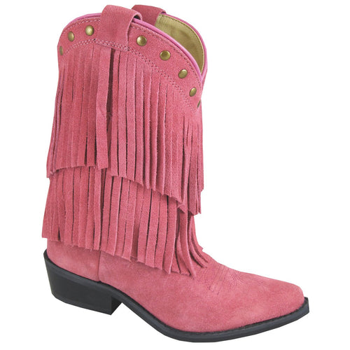 Smoky Mountain Girl's Children's Wisteria Pink Double Fringe Boot