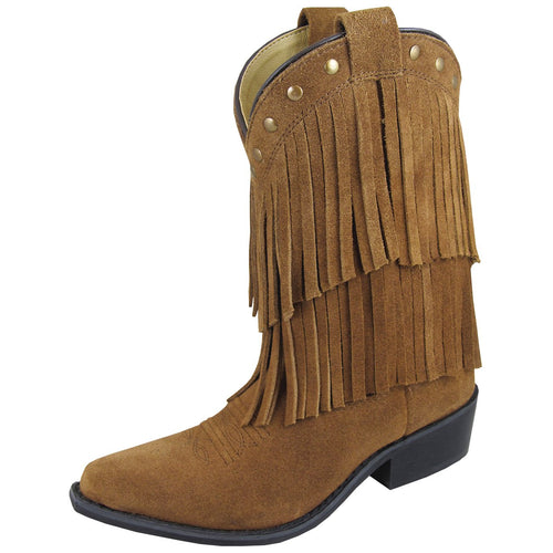 Smoky Mountain Girl's Children's Wisteria Brown Double Fringe Boot