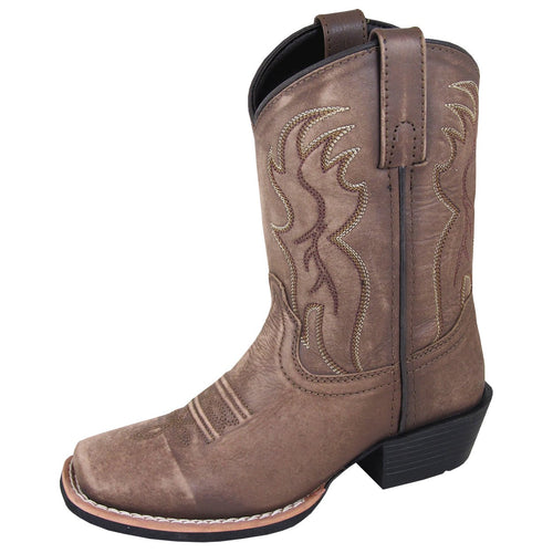 Smoky Mountain Youth Gallup Vintage Brown Cowboy Boot