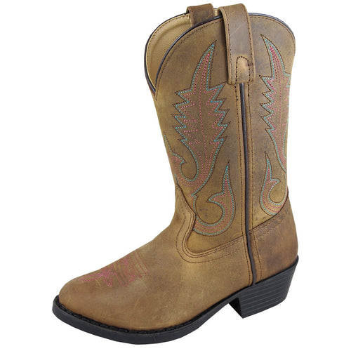 Smoky Mountain Girl's Youth Annie Brown Distress Cowboy Boot