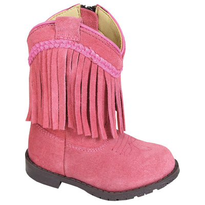 Smoky Mountain Girl's Toddler Hopalong Pink Fringe Side Zipper Cowboy Boot