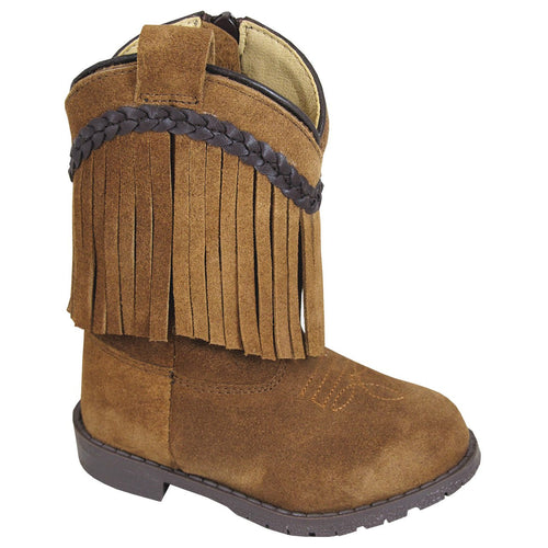 Smoky Mountain Girl's Toddler Hopalong Brown Fringe Side Zipper Boot
