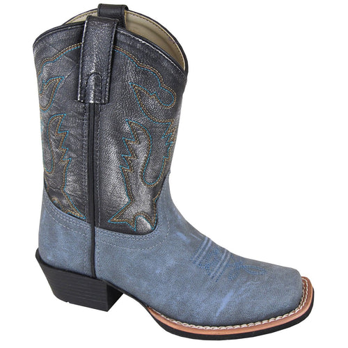 Smoky Mountain Youth Gallup Vintage Blue/Black Cowboy Boot