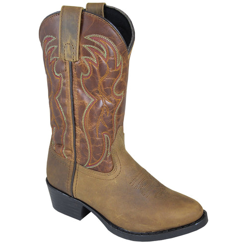 Smoky Mountain Youth Tonto Brown Distress/Brown Crackle Cowboy Boot