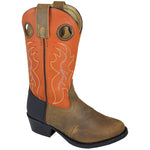 Smoky Mountain Toddler Autry Brown Distress/Orange Cowboy Boot
