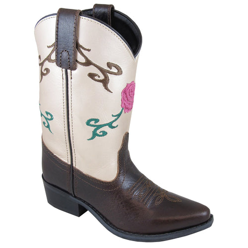 Smoky Mountain Girl's Youth Lucky Brown/Cream Cowboy Boot