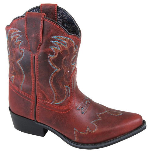 Smoky Mountain Girl's Youth Juniper Red Cowboy Boot