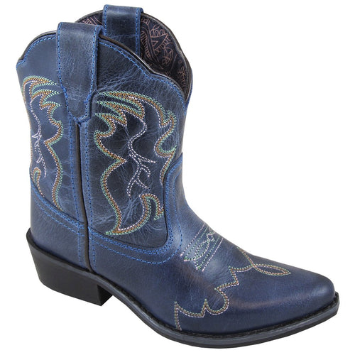 Smoky Mountain Girl's Youth Juniper Denim Blue Cowboy Boot