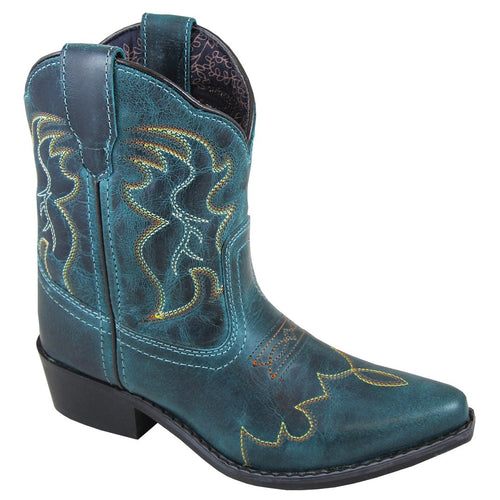 Smoky Mountain Girl's Youth Juniper Green Cowboy Boot