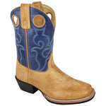 Smoky Mountain Toddler Autry Bomber Tan/Blue Cowboy Boot