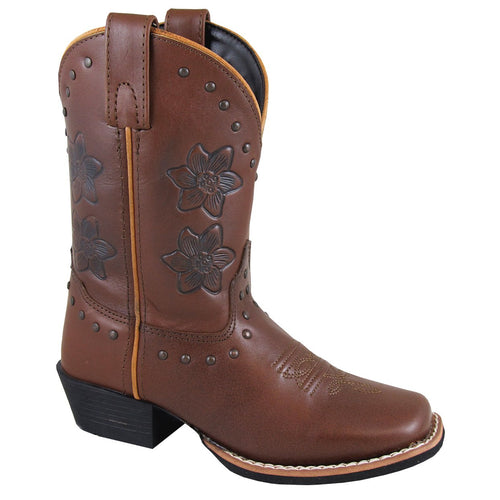 Smoky Mountain Youth Lilac Brown Cowboy Boot