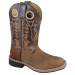 Smoky Mountain Youth Jesse Brown Distress/Brown Crackle Cowboy Boot