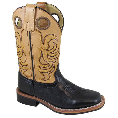 Smoky Mountain Children's Jesse Black/Bomber Tan Cowboy Boot