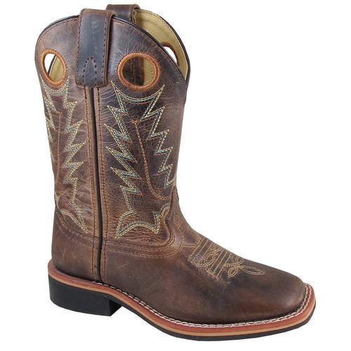 Smoky Mountain Youth Jesse Brown Waxed Distress Cowboy Boot