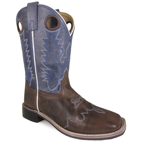 Smoky Mountain Children's Delta Blue Crackle/Brown Waxed Distress Boot