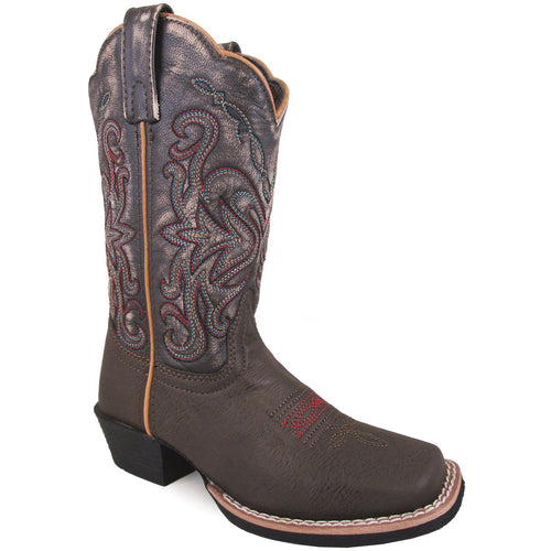 Smoky Mountain Children's Fusion #2 Brown Vintage/Black Cowboy Boot