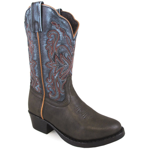 Smoky Mountain Children's Fusion #1 Brown Vintage/Blue Cowboy Boot
