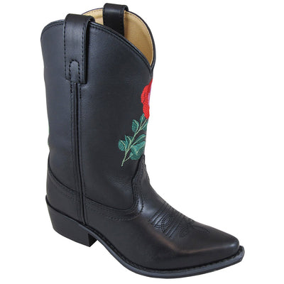 Smoky Mountain Girl's Children's Rosalito Black Cowboy Boot