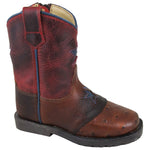 Smoky Mountain Toddler Autry Cognac/Red Crackle Cowboy Boot