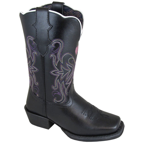 Smoky Mountain Girl's Youth Rockin Heart Black Cowboy Boot