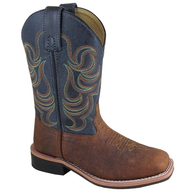 Smoky Mountain Youth Jesse Brown/Navy Cowboy Boot
