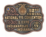 2019 92nd Annual National FFA Convention Belt Buckle