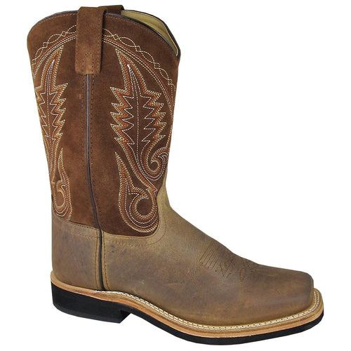 Smoky Mountain Men's Brown Distress Square Toe Boot