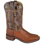 "Smoky Mountain Men's Danville 11"" Cognac/Brown Crackle Cowboy Boot"