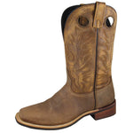 "Smoky Mountain Men's Timber 11"" Brown Distress Cowboy Boot"