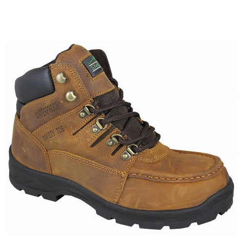 Smoky Mountain Men's Crazy Horse Waterproof W/ Steel Toe Lace Up