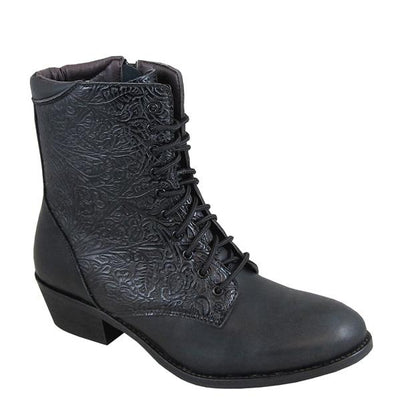 "Smoky Mountain Women's Lacer 6"" Black Laced Cowboy Boot"