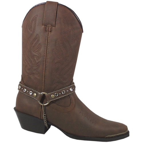 Smoky Mountain Women's Brown Distress Western Boot