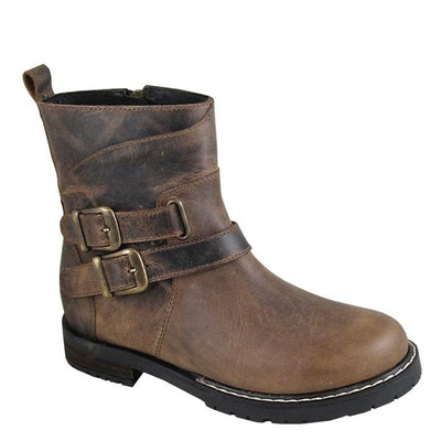 "Smoky Mountain Women's Dylan 6"" Brown Waxed Cowboy Boot"