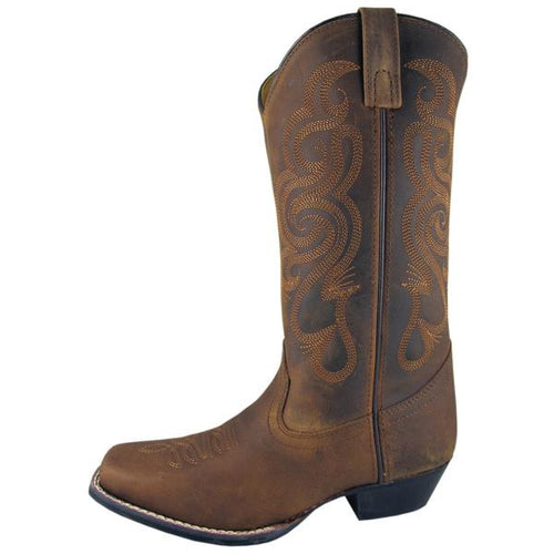 Smoky Mountain Women's Brown Oil Distress Square Toe Boot