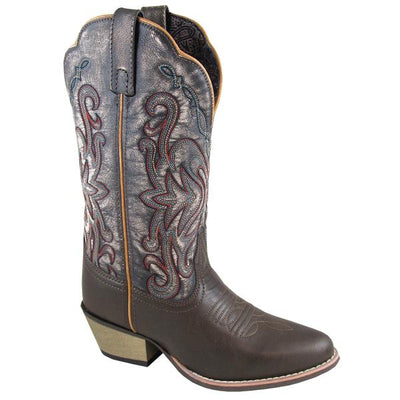 "Smoky Mountain Women's Fusion #1 11"" Brown/Vintage Black Cowboy Boot"