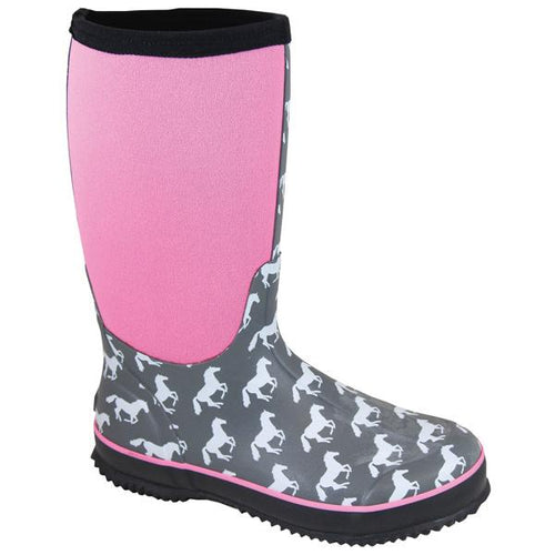 Smoky Mountain Women's Gray/Pink Amphibian Boot