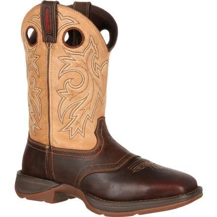 Durango Men's Rebel Saddle Up Western Boot - Tan/Distressed Brown