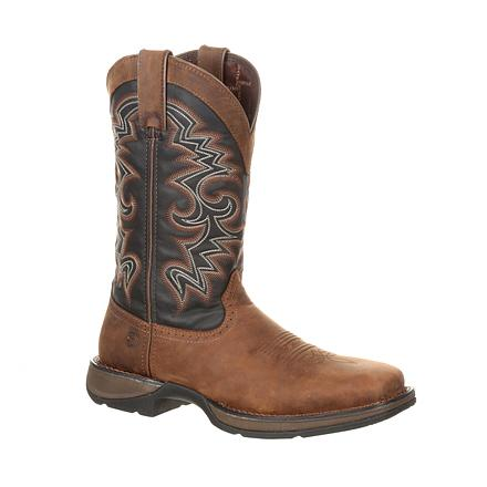 Durango Men's Chocolate and Midnight Pull-on Western Boot
