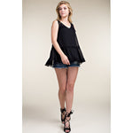 Vocal Women's Babydoll Tank Top - Black