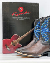 French's Music City Collection - Men's Shrunken Chocolate Boots