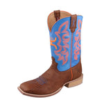 Twisted X Men's Hooey Boot – Cognac Bull Hide/Neon Blue