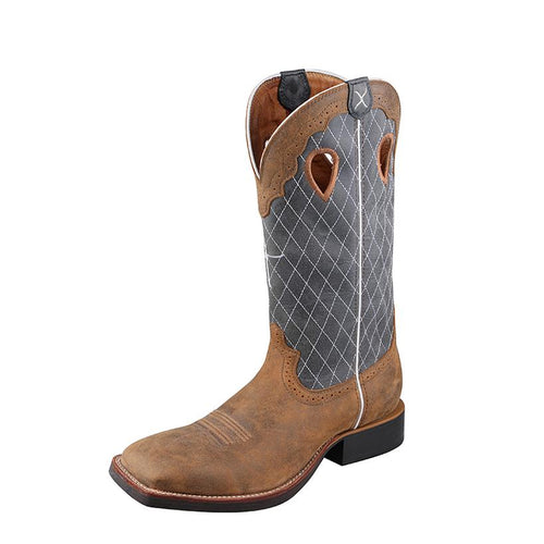 Twisted X Men's Ruff Stock Boot – Bomber/Blue