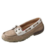 Twisted X Women's Driving Moccasins – Dusty Tan/White
