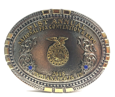 2018 91st Annual National FFA Convention Belt Buckle